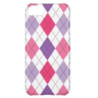 Retro Argyle Trendy Pink Purple Fun iPhone 5C Case