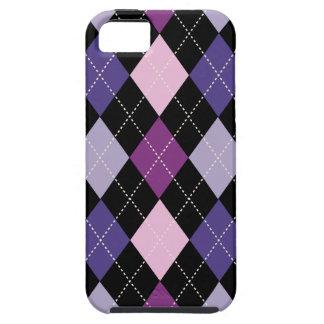 Retro Argyle Trendy Pink Purple Fun Tough iPhone 5 Case