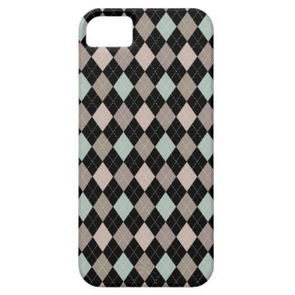 Retro Argyle Trendy Soft Brown & Black Elegance iPhone 5 Cover