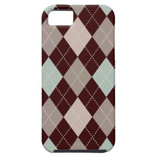 Retro Argyle Trendy Soft Brown Elegance Tough iPhone 5 Case