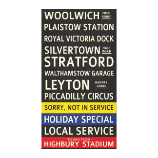 Retro Arsenal FC Bus Scroll Canvas Print