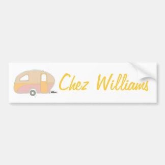 Retro Art Caravan Owner's Bumper Sticker Car Bumper Sticker