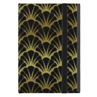 Retro Art Deco Black / Gold Shell Scale Pattern iPad Mini Case