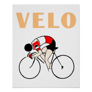 Retro art deco design cycling velo (2) poster