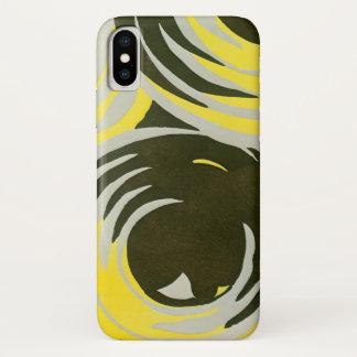 Retro Art Deco Jazz Vintage Circles Swirls Pattern iPhone X Case