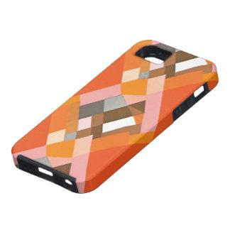 Retro Art Deco Vintage Jazz Orange Diamond Pattern iPhone 5 Case