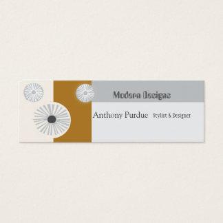 Retro ART Modern  Mid-Century Minimal Mini Business Card
