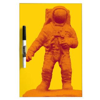Retro Astronaut Figurine Dry Erase Board