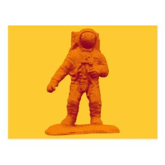 Retro Astronaut Figurine Postcard