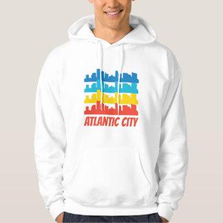 Retro Atlantic City NJ Skyline Pop Art Hoodie