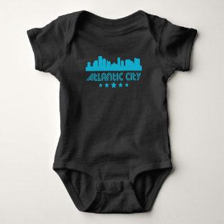 Retro Atlantic City Skyline Baby Bodysuit