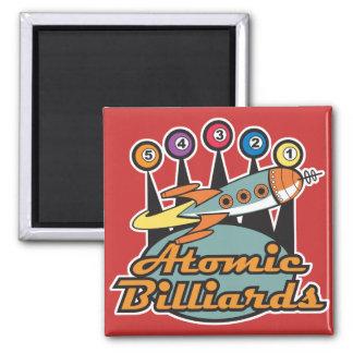 retro atomic billiards sign square magnet