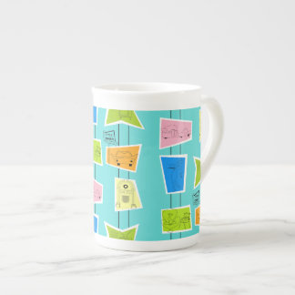Retro Atomic Kitsch Bone China Mug