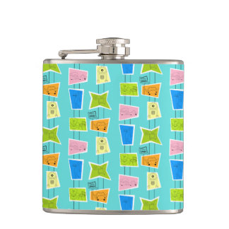 Retro Atomic Kitsch Flask