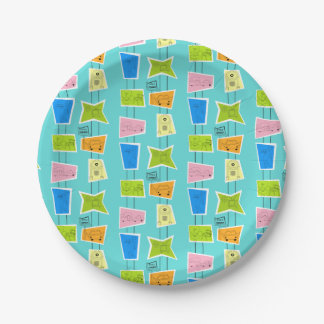 Retro Atomic Kitsch Paper Plate