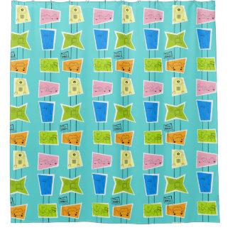 Retro Atomic Kitsch Shower Curtain