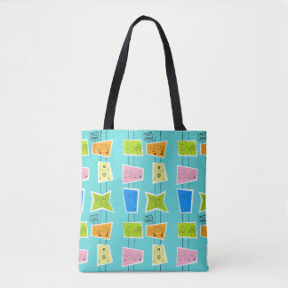 Retro Atomic Kitsch Tote Bag