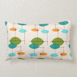 Retro Atomic Mobile Pattern Lumbar Pillow