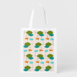 Retro Atomic Mobile Pattern Reusable Bag