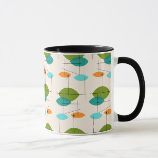 Retro Atomic Mobile Pattern Ringer Mug