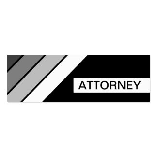retro ATTORNEY Pack Of Skinny Business Cards