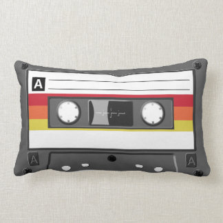 Retro Audio Cassette Tape Pillow