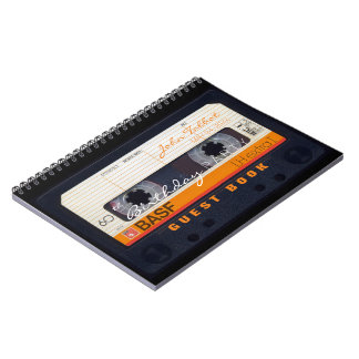 Retro Audiotape 60th birthday Guest Book