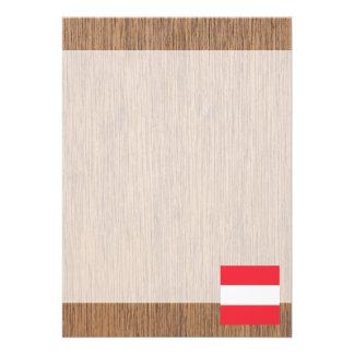 Retro Austria Flag 13 Cm X 18 Cm Invitation Card
