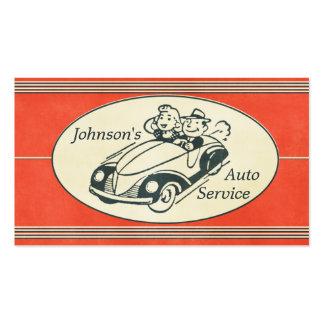Retro Auto Service And Repair Business Cards
