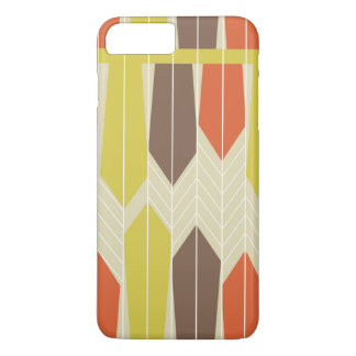 Retro Autumn Feathers Pattern iPhone Cover