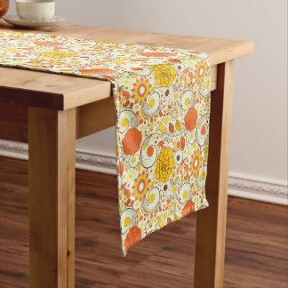 Retro Autumn Flowers & Leaves #1 Long Table Runner