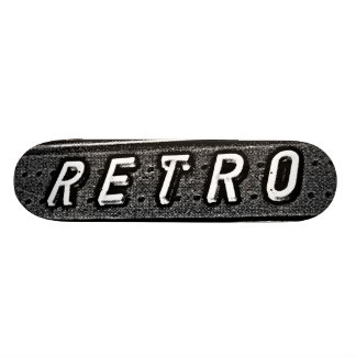 Retro - B&W 21.6 Cm Skateboard Deck