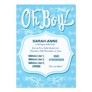 Retro Baby Boy Baby Shower Invitation