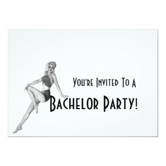 Retro Bachelor Party Invitations