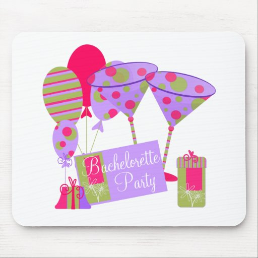 Retro Bachelorette Party Mouse Mat