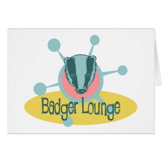 Retro Badger Lounge Greeting Card