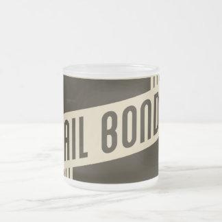 retro bail bonds frosted glass coffee mug