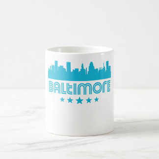 Retro Baltimore Skyline Coffee Mug