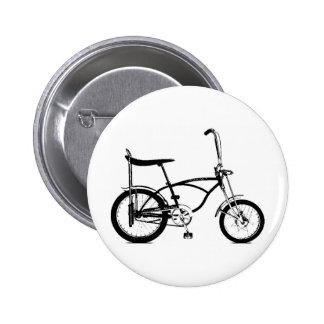 Retro Banana Seat Bike 6 Cm Round Badge