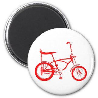 Retro Banana Seat Bike 6 Cm Round Magnet
