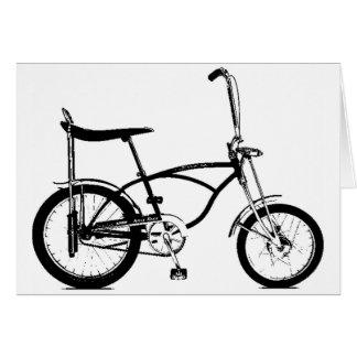 Retro Banana Seat Bike Greeting Card