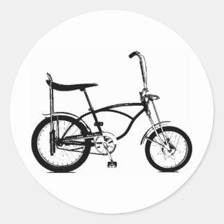 Retro Banana Seat Bike Round Sticker