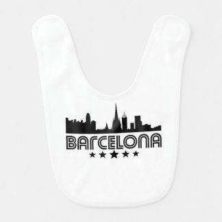 Retro Barcelona Skyline Bib