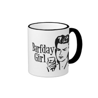 Retro Barfday Girl - Black & White Mug