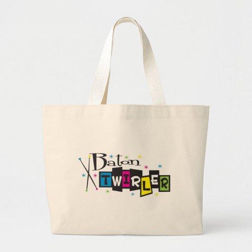 Retro Baton Twirler Tote Bag
