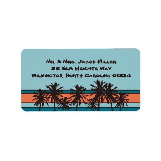 Retro Beach Return Address Labels