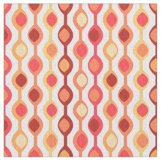 Retro Bead Pattern Yellow Orange Fabric