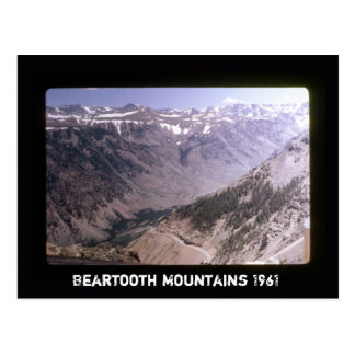 Retro Beartooth Mountains Scenic Highway Landscape Postcard