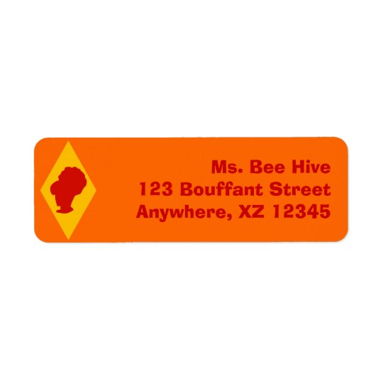 Retro BeeHive Cameo Diamond Return Address Label