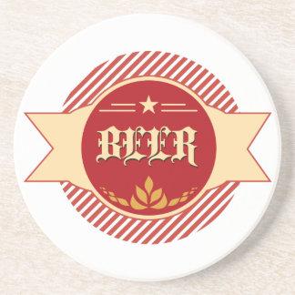 Retro Beer Logo Coaster